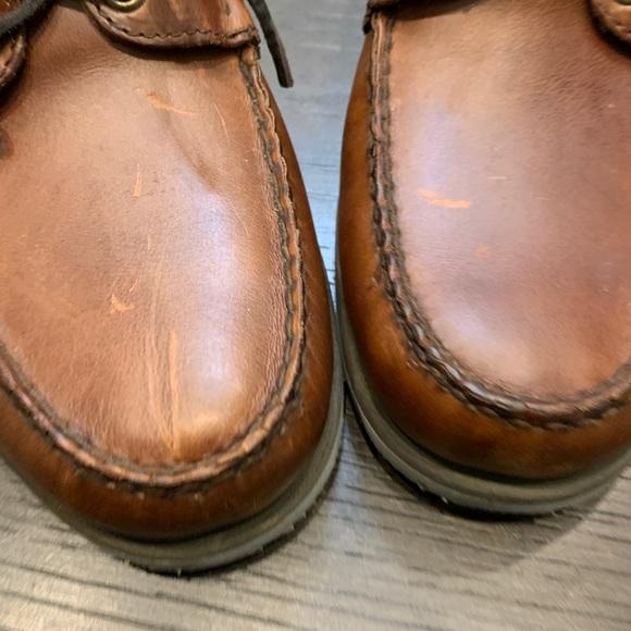 Men/'s Sebago Clovehitch Lite FGL Oiled Brown Leather Lace Up Deck Boat Shoes Sz